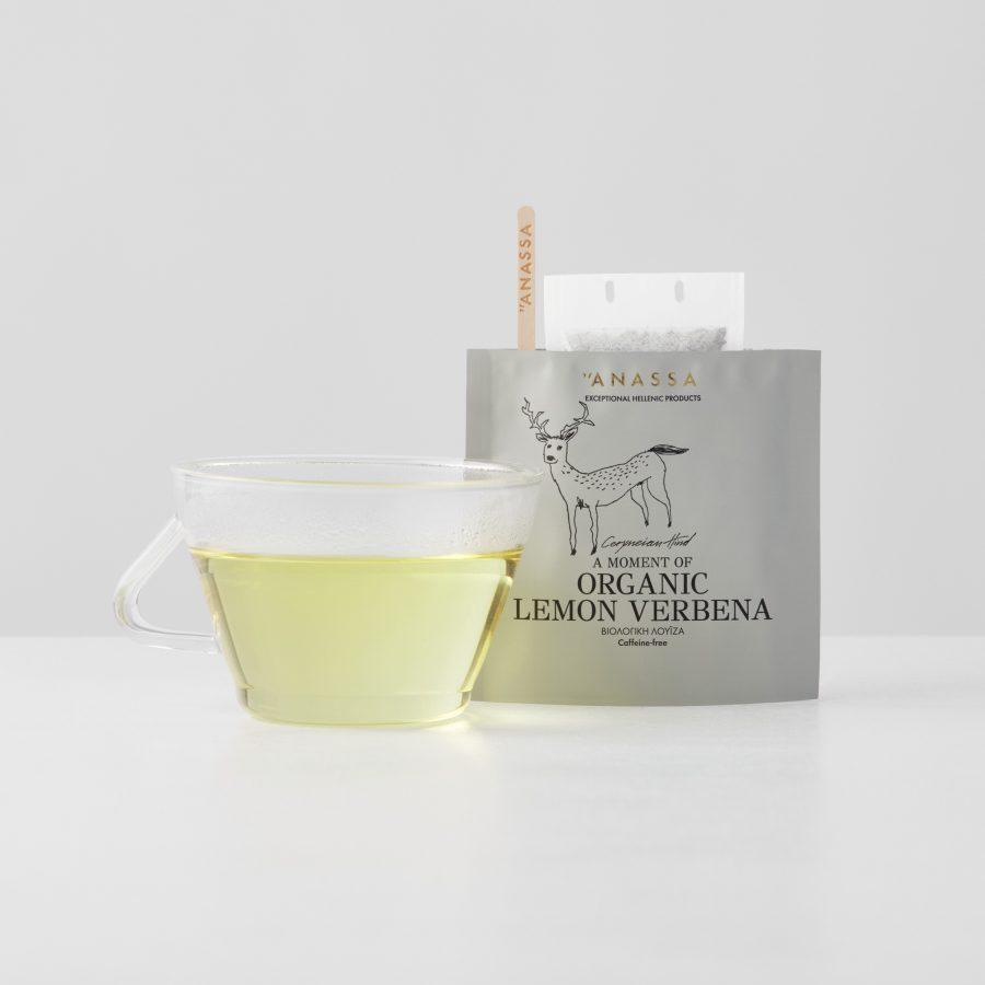 Organic Lemon Verbena Enveloped tea bags