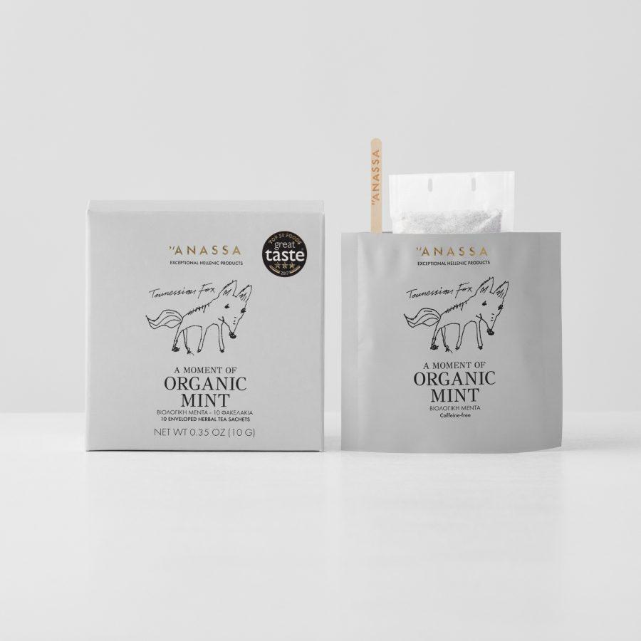 Organic Mint Enveloped tea bags