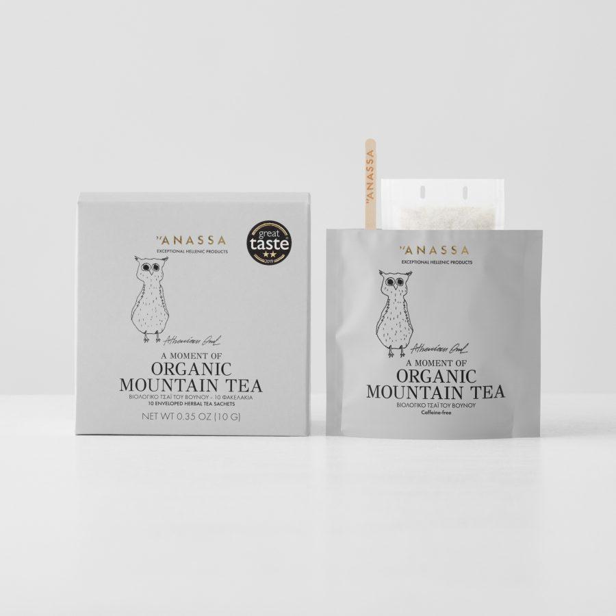 Organic Mountain Tea Enveloped tea bags